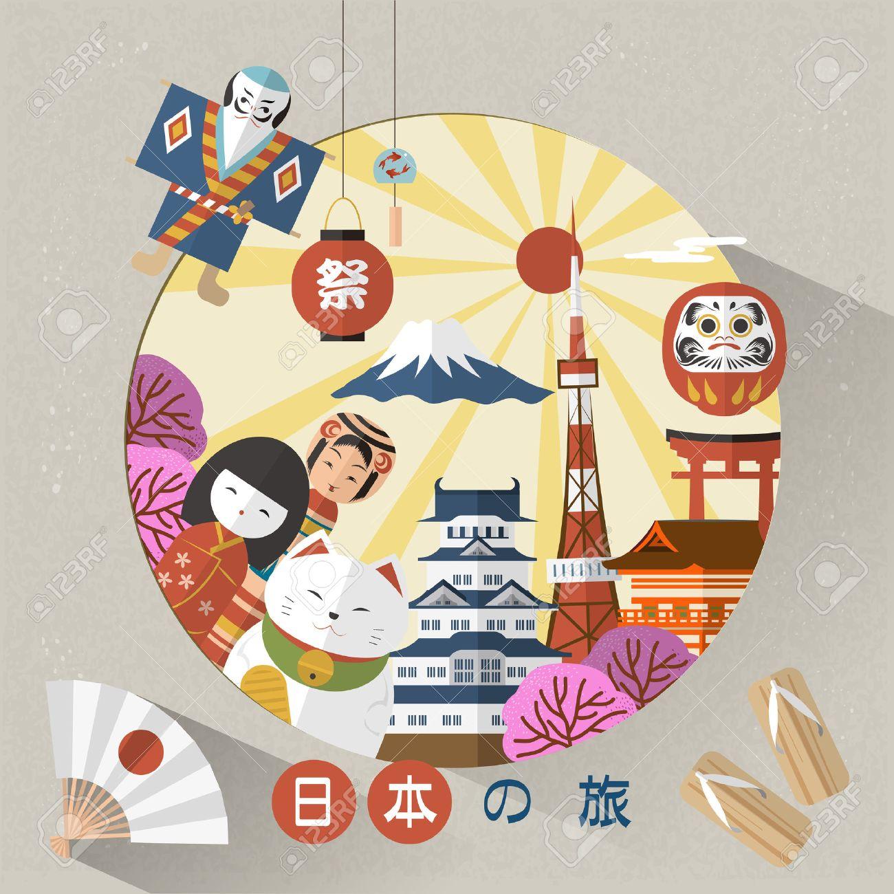 lovely Japan travel poster - Japan Travel and Festival in Japanese words - 50046081