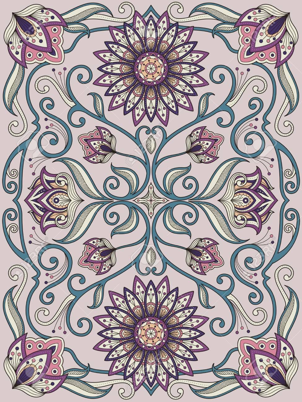 Lujoso Diseño De Páginas Para Colorear Ornamento - Dibujos Para ...