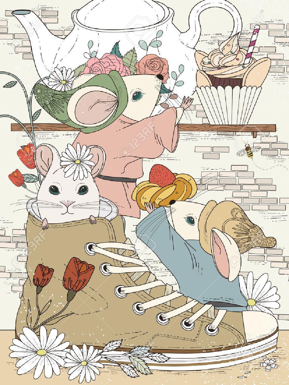 Hermosa Página Para Colorear Para Adultos - Fiesta De Té De La Tarde ...