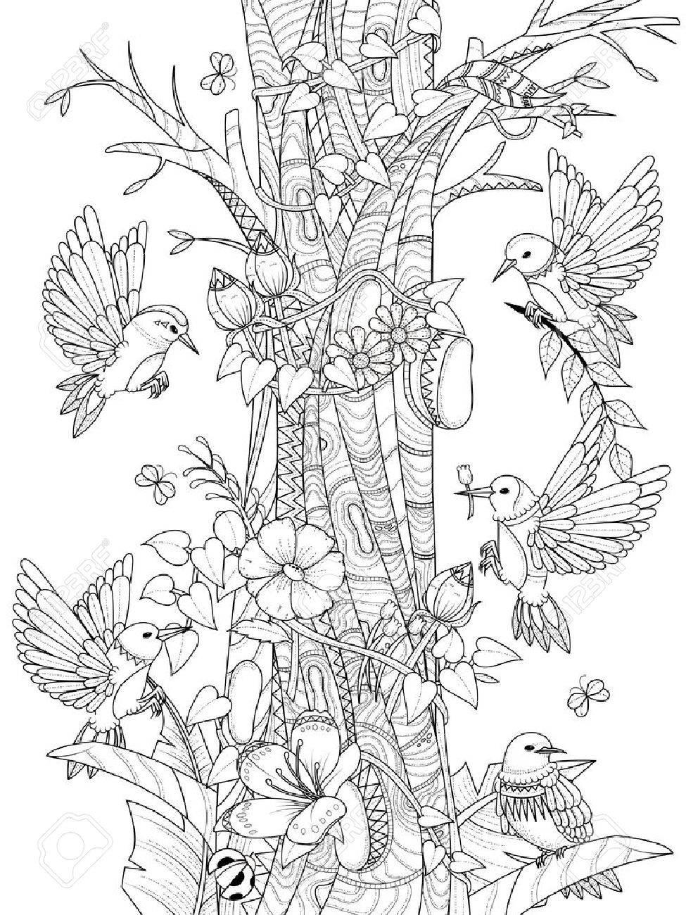 Kleurplaten Bloemen Vogels.Nieuw Kleurplaten Vogels En Bloemen Krijg Duizenden Kleurenfoto S