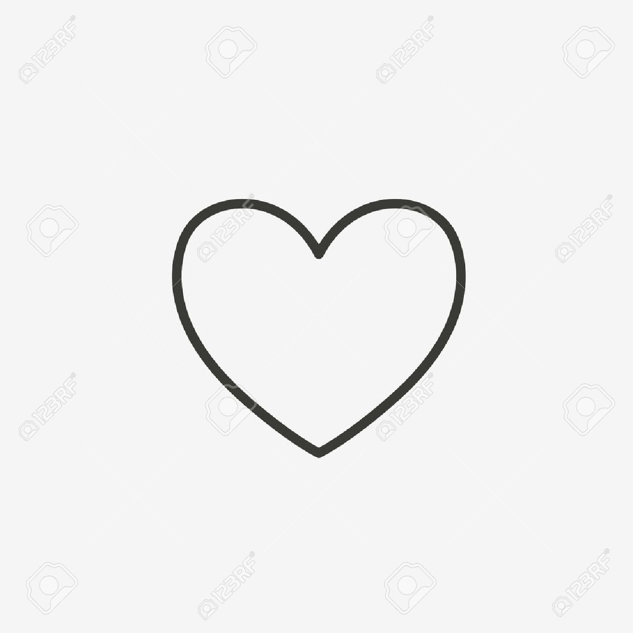 heart outline icon of brown outline for illustration - 60840587