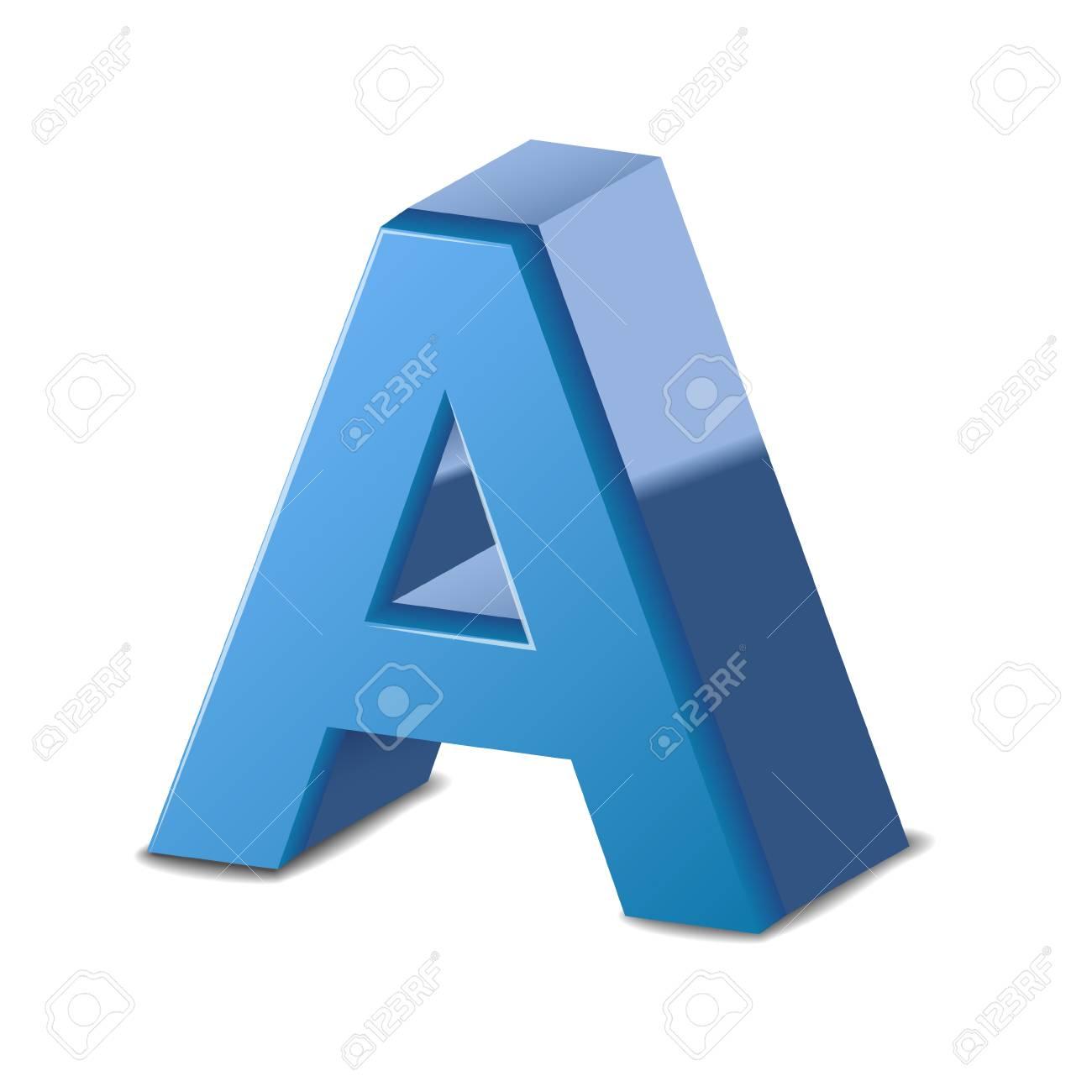 letter a blue - Monza berglauf-verband com