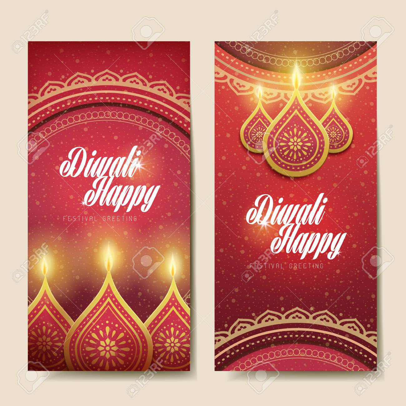 Happy diwali festival greeting text card with candle decorations happy diwali festival greeting text card with candle decorations and white background stock vector m4hsunfo