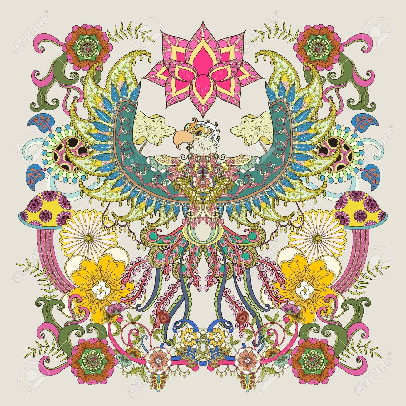 Majestic Página Para Colorear Adulto De águila, águila Alas Abiertas ...