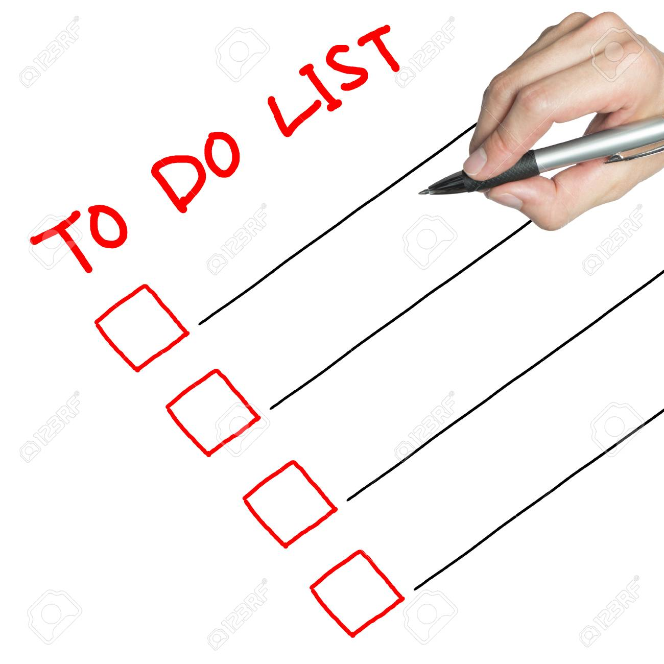 to do list sample drawn by hand stock photo picture and royalty