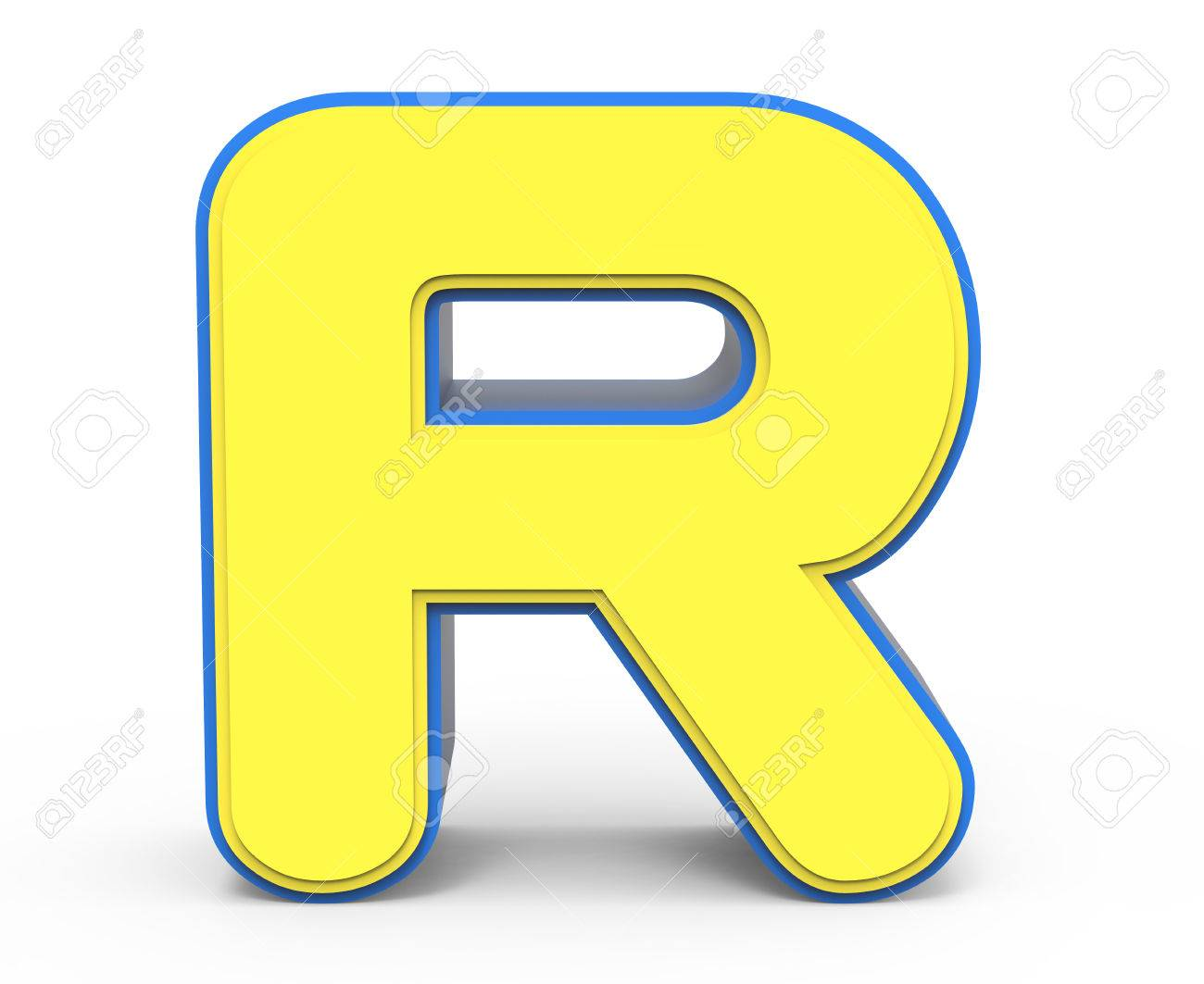3d rendering cute yellow letter r isolated white background stock 3d rendering cute yellow letter r isolated white background toylike alphabet for design yellow thecheapjerseys Image collections