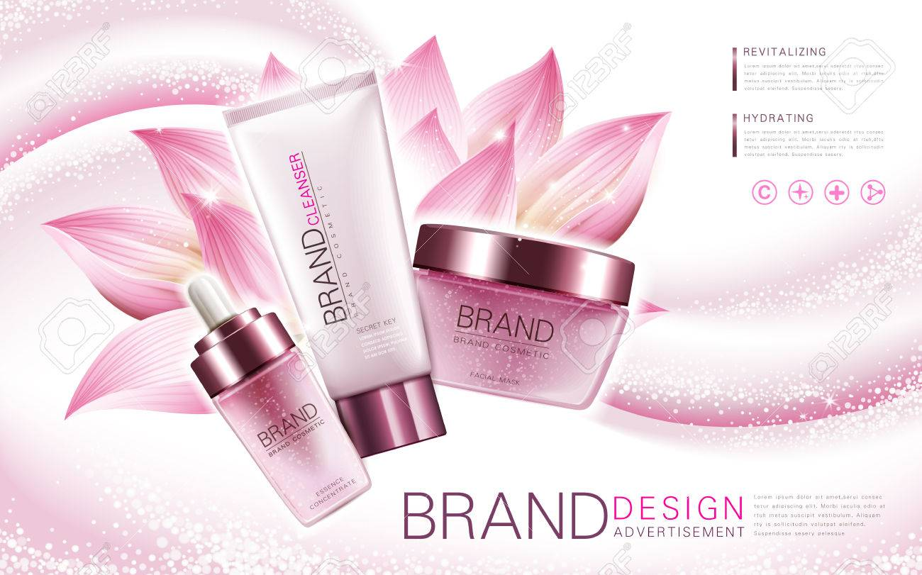 Lotus Essence Cleanser And Facial Mask Product With Flower