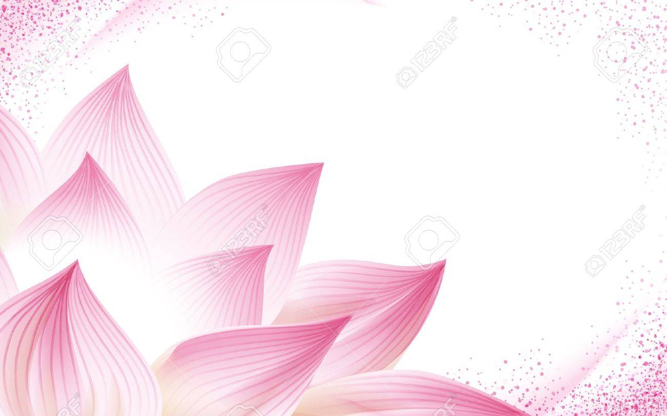 flower background, with a half pink lotus in the corner of the picture, 3d illustration - 68413108