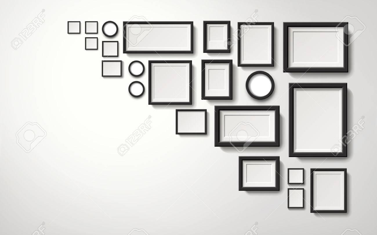 Mehrere Arten Bilderrahmen Dekoration An Der Wand Hängen, 3d ...