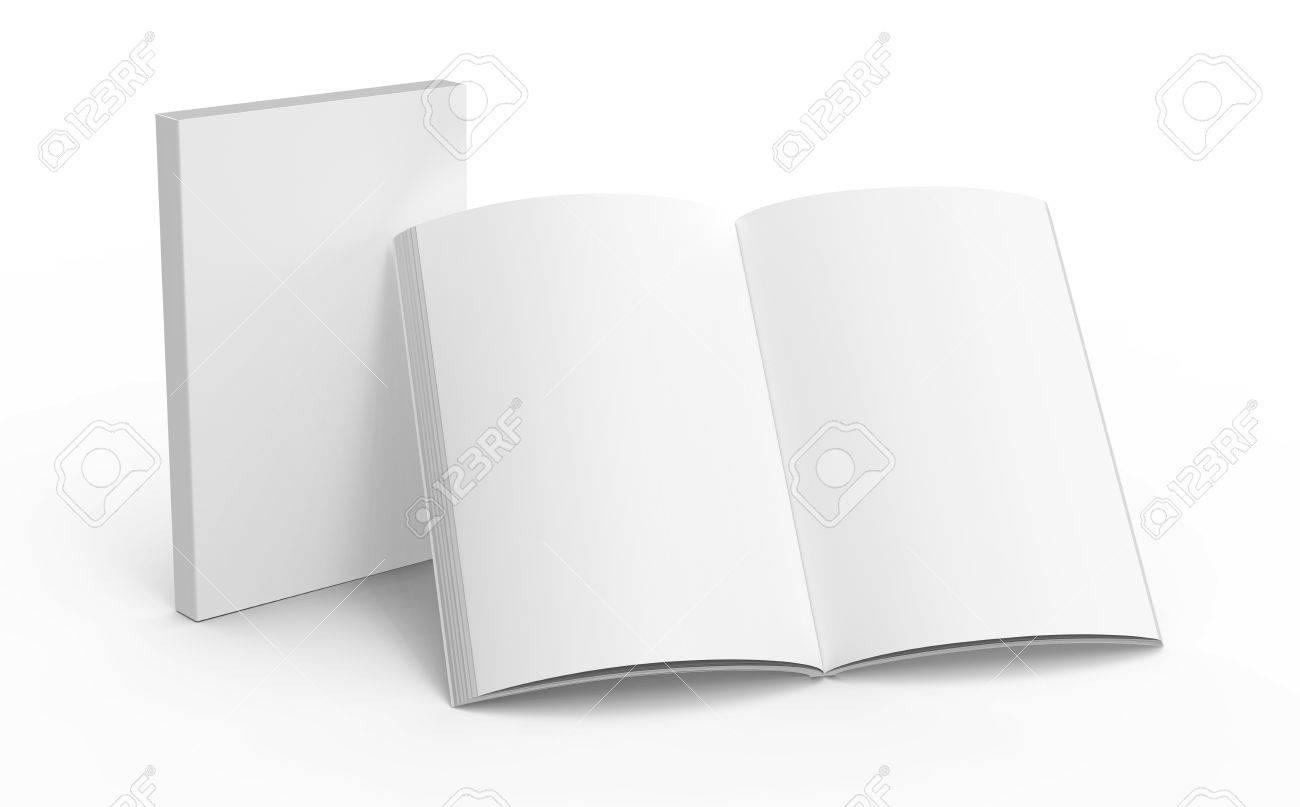 Modele De Livre Blanc Maquette Pour Les Utilisations De Conception En Rendu 3d Un Livre Ouvert Debout Avec Ferme