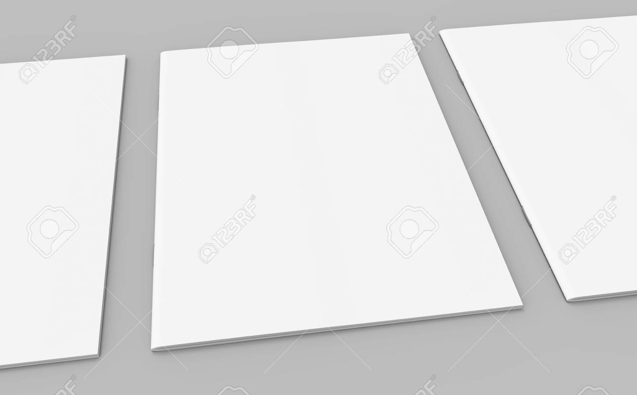 Blank Magazine Or Booklet Template Mockup For Design Uses In
