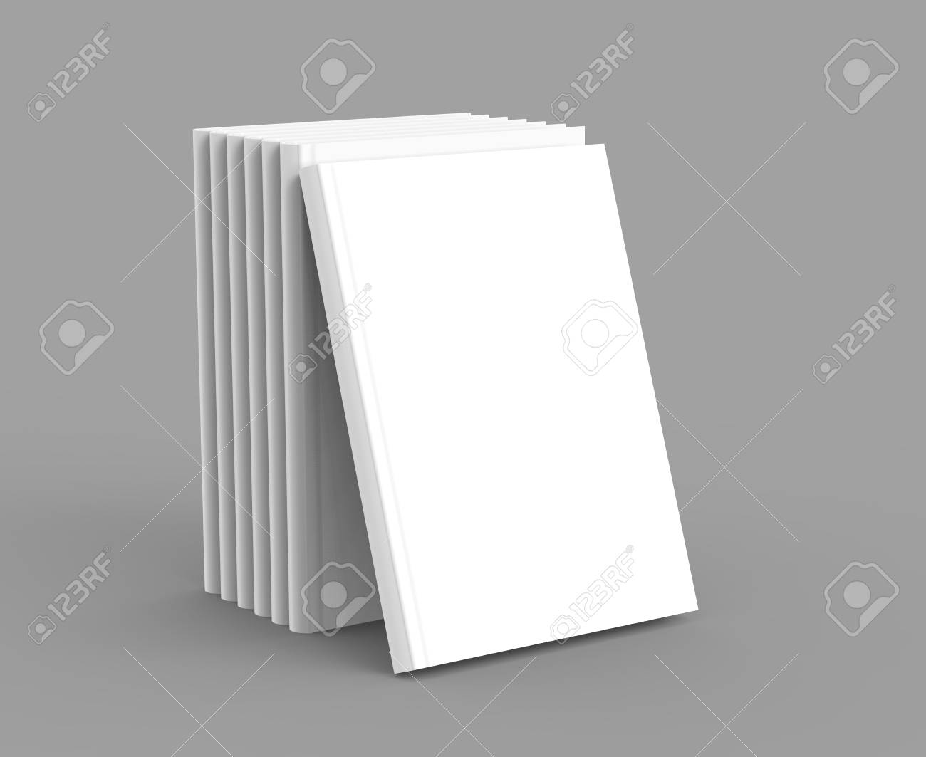 Hardcover Book Template, Blank Standing Books Mockup For Design ...