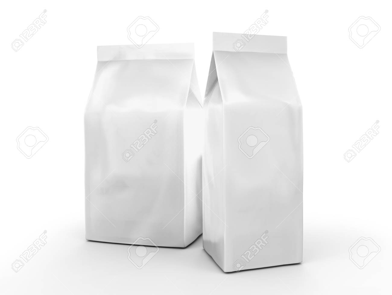 pearl white coffee bean bag mockup blank foil bag template in