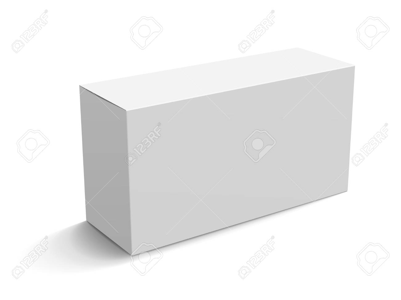 Blank Paper Box Mockup White Box Template For Design Uses In
