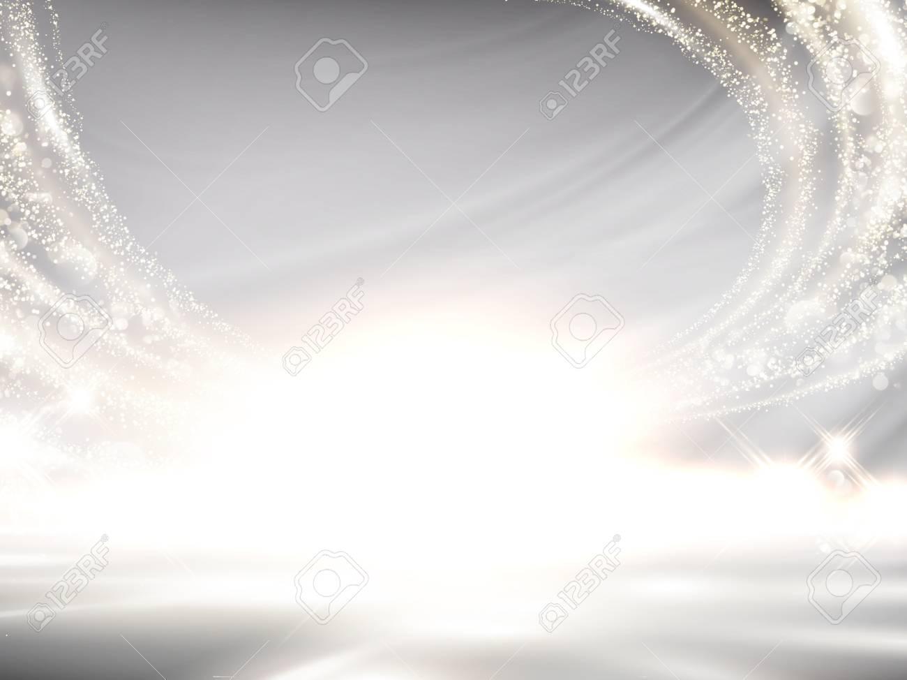 Glittering pearl white background, elegant wavy light effect for design uses in 3d illustration - 94128628