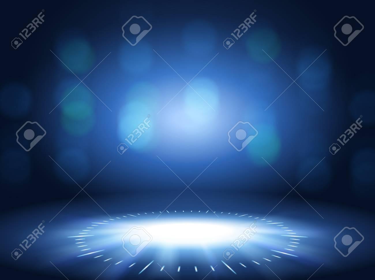 Glittering bokeh background, blue color decorative wallpaper for design uses. - 94196979
