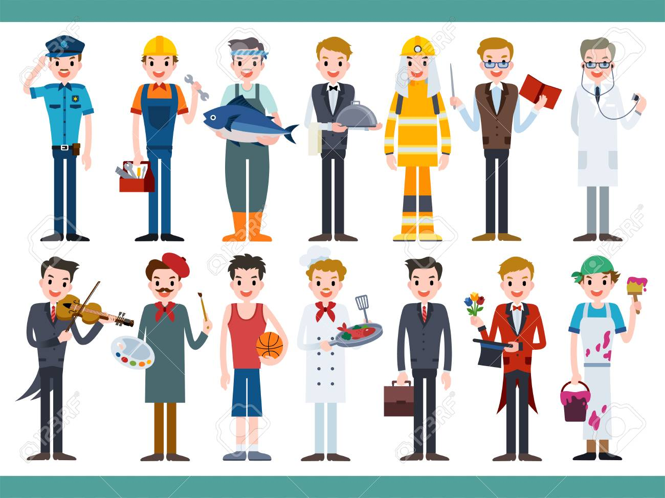 Different Career Set Lovely Characters In All Kinds Of Job Royalty Free Cliparts Vectors And Stock Illustration Image 94208991