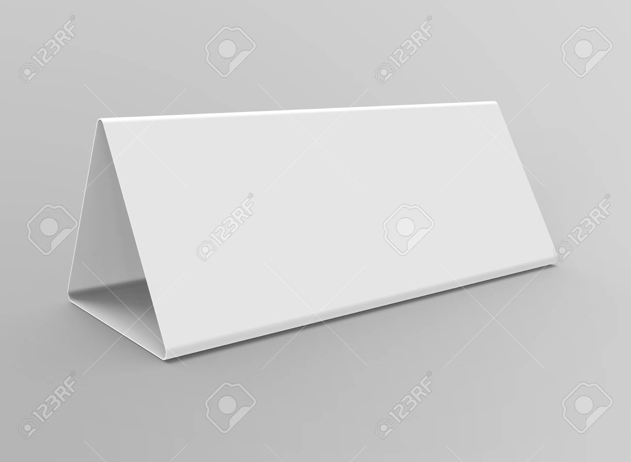 Blank Table Tent D Render Table Card Mockup For Design Uses - Table tent card stock
