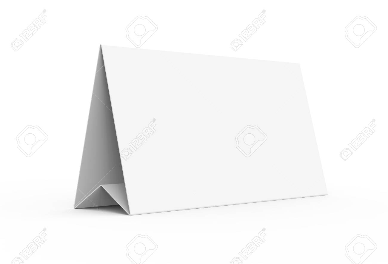 image relating to Printable Tent Card titled Blank paper tent template, white tent card with vacant location within just..