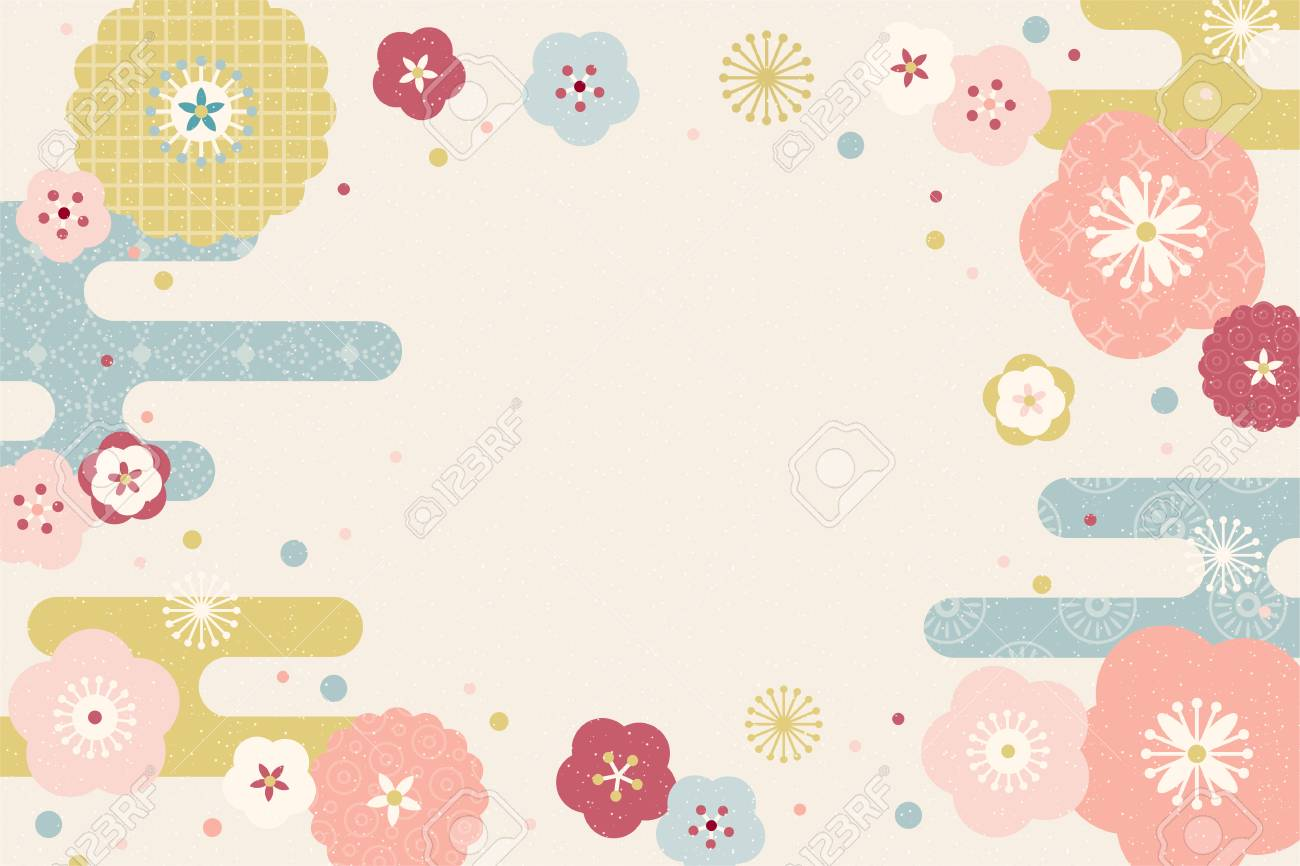 Lovely flat design flowers background with copy space - 126582430