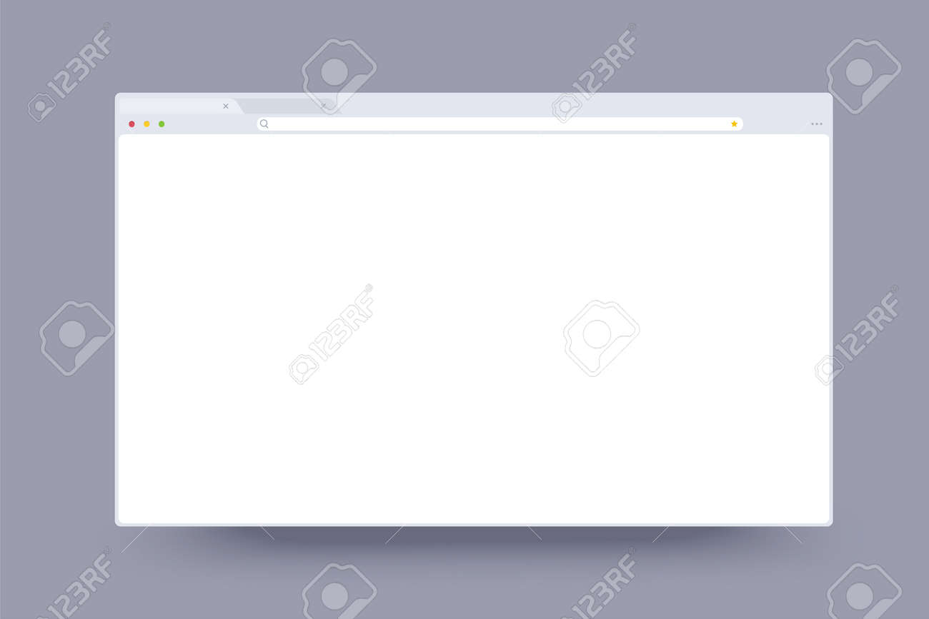 Simple browser window flat design on grey background - 157008274