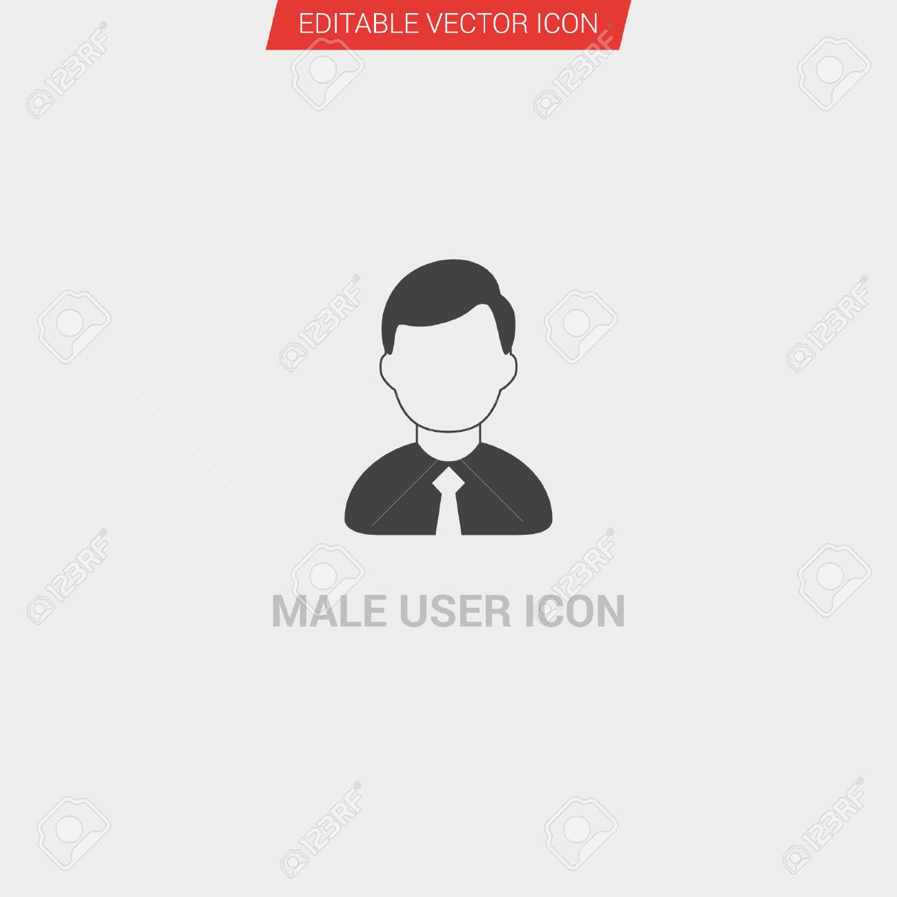 6207fa6938f5 Male User icon dark grey new trendy flat style vector symbol Stock Vector -  99881981