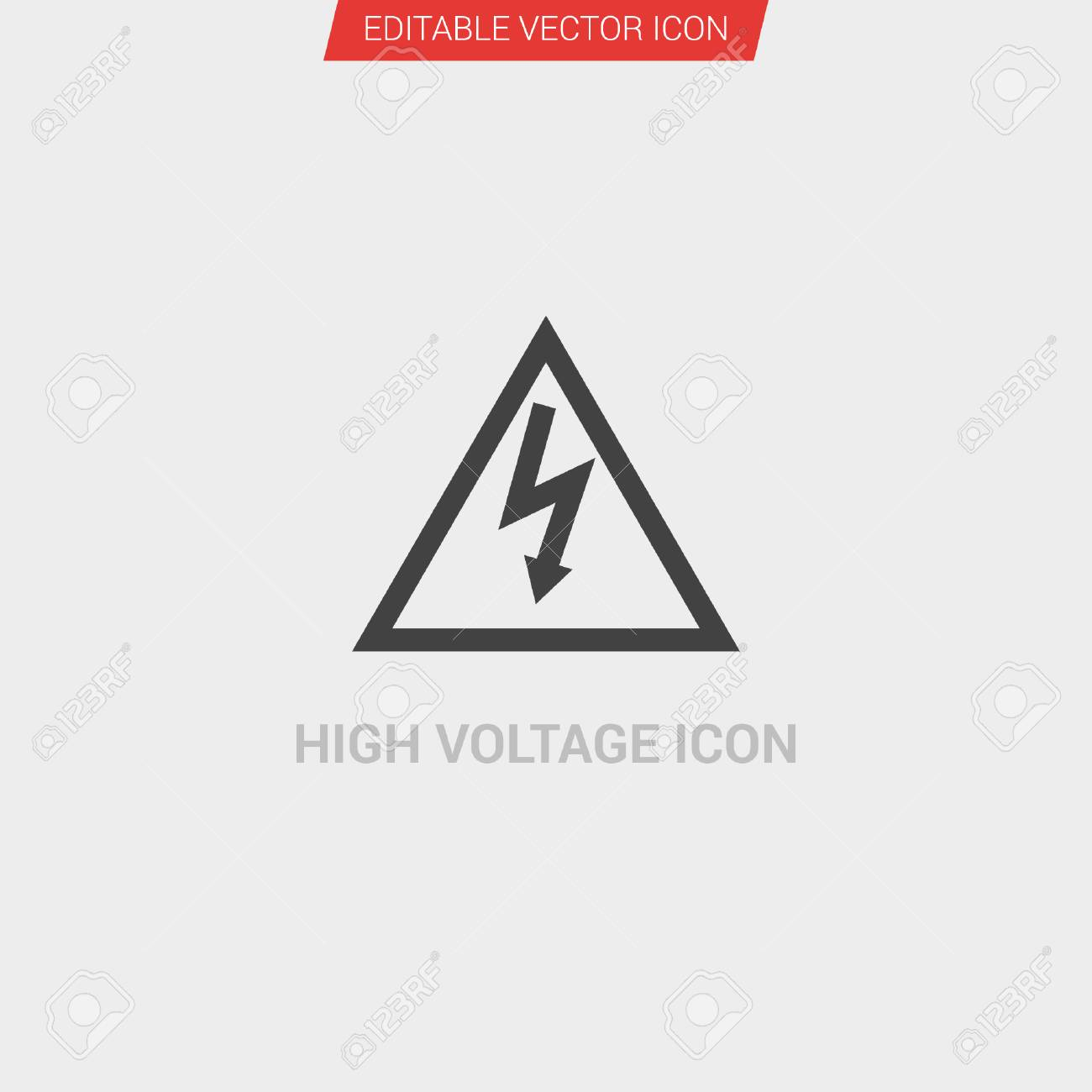 befc26f4cbea High Voltage icon dark grey new trendy flat style vector symbol Stock  Vector - 99879829