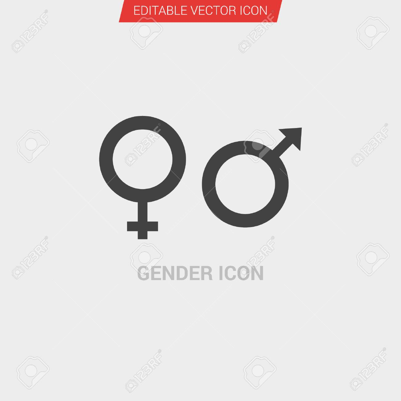 dd3774efe4ba Gender icon dark grey new trendy flat style vector symbol Stock Vector -  99879832