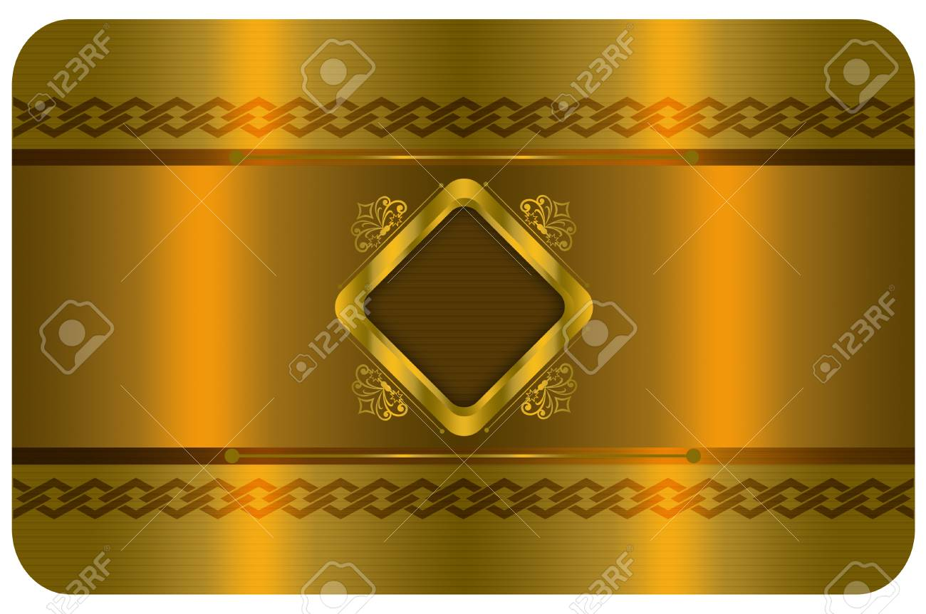 Template For The Design Of Your Business Card Gold Style