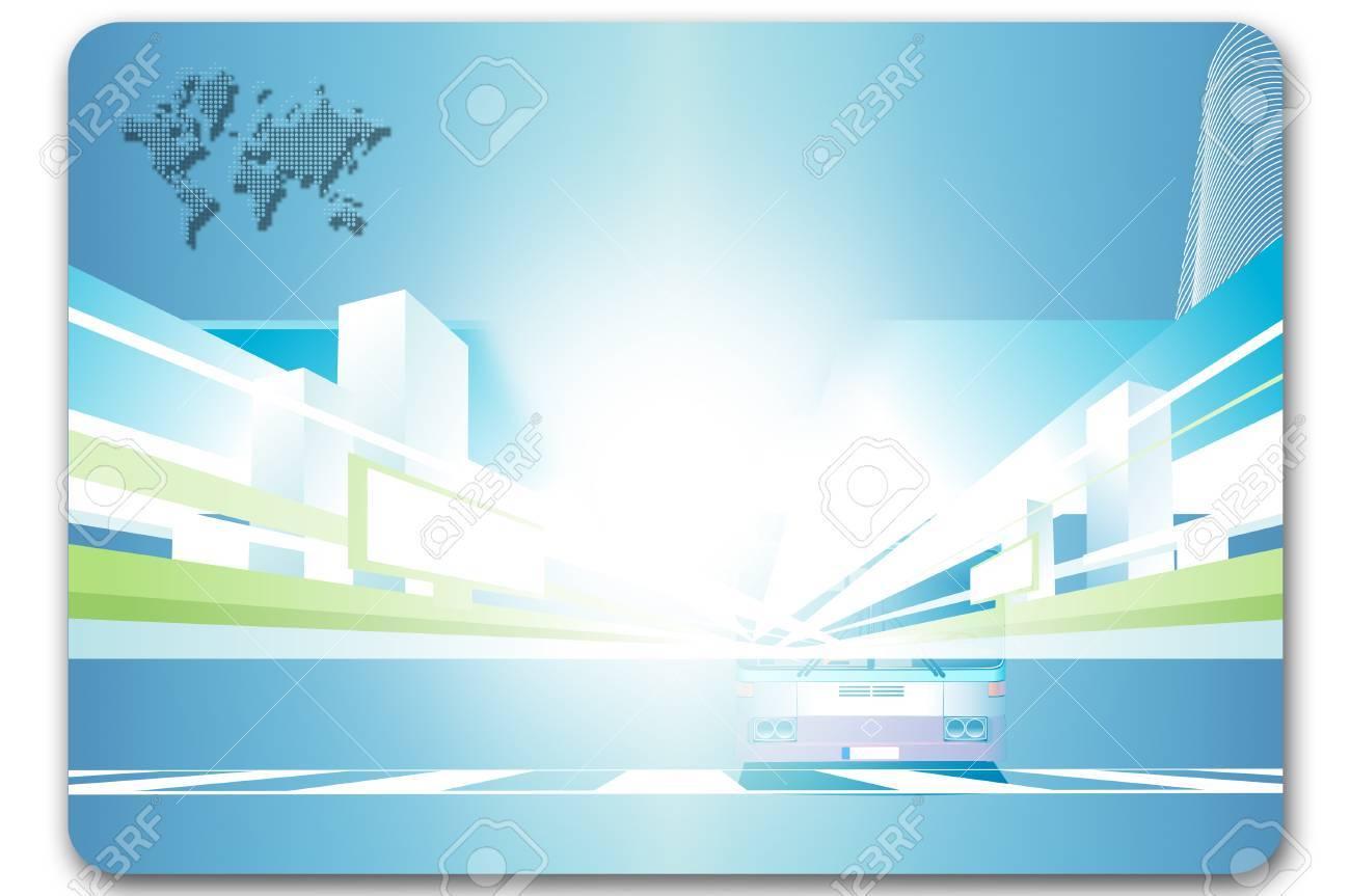 Modele De Carte Visite Resume Avion Et Fond Pour La