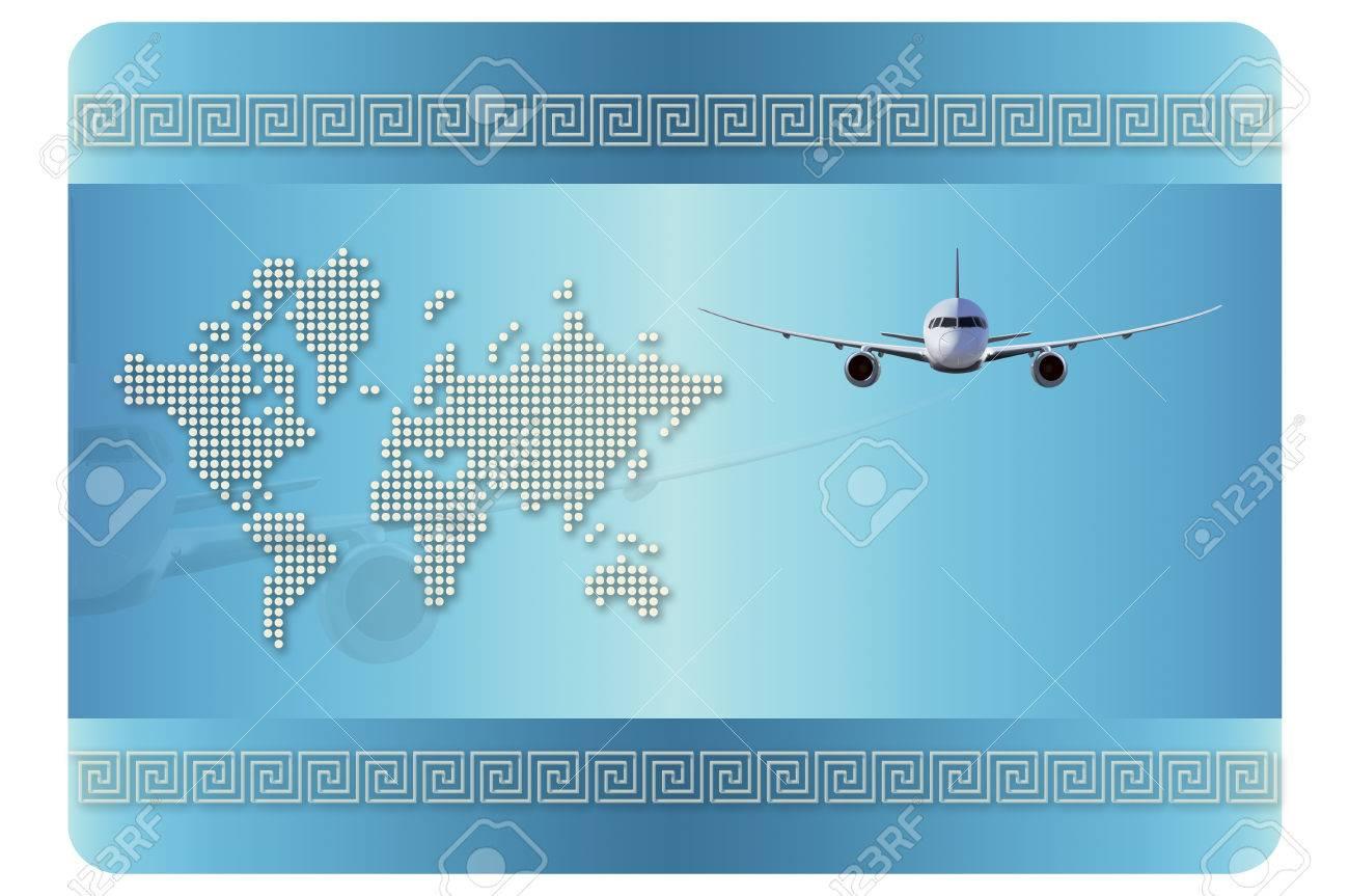 Modle De Carte Visite Rsum Avion Et Fond Pour La