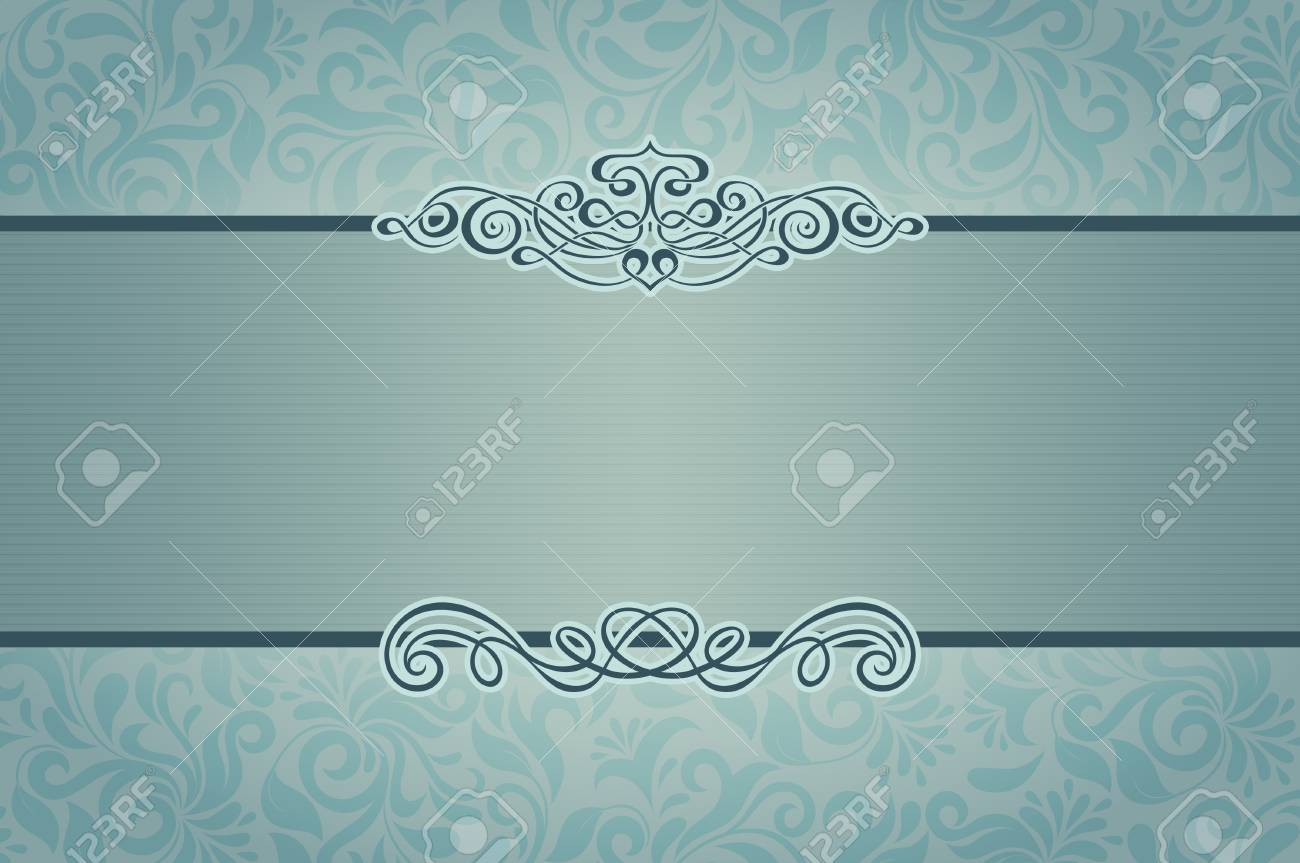 Wedding Invitation Template Elegant Floral Background For The