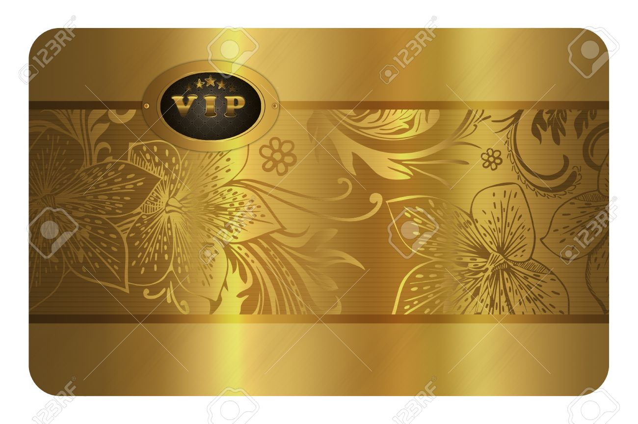 Gold business card template gold floral background for the design gold business card template gold floral background for the design of your business card reheart Gallery