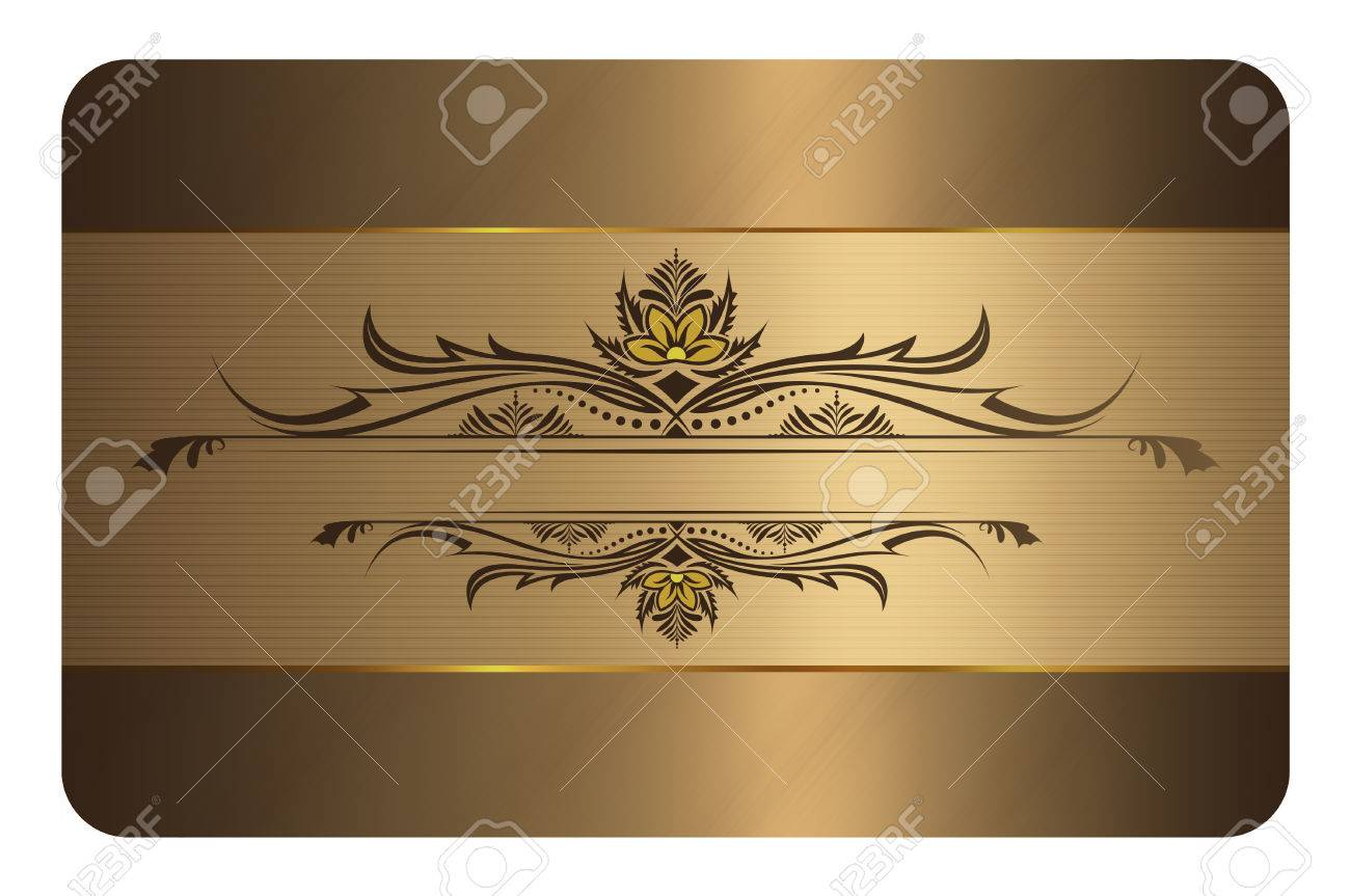 Gold business card template gold background with decorative stock gold business card template gold background with decorative elements for the design of your business colourmoves