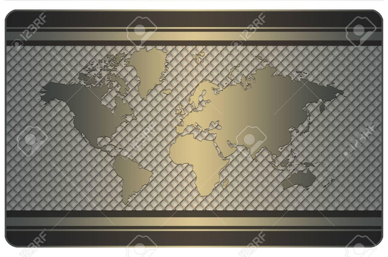 Modele De Carte Visite Avec Du Monde Et Un Treillis