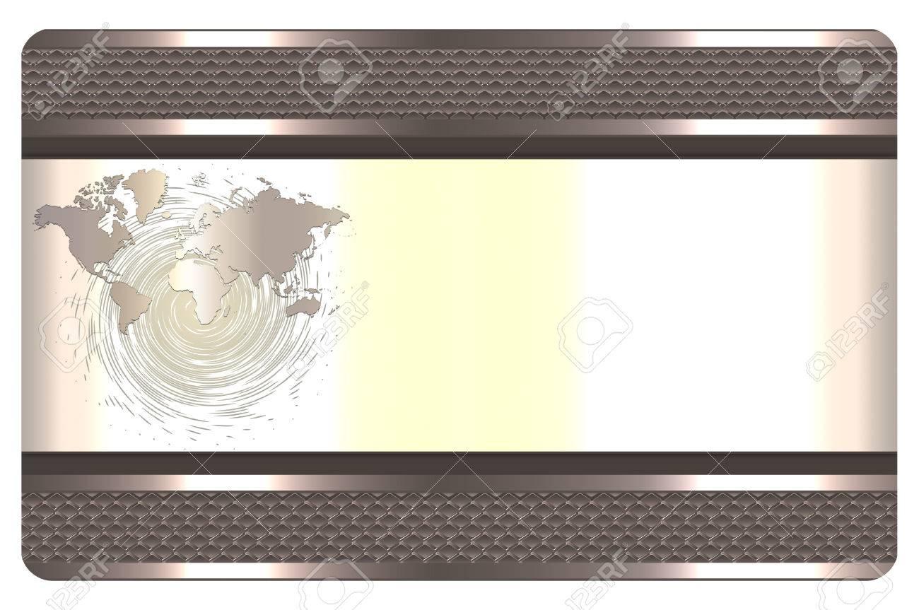 Modele De Carte Visite Avec La Frontiere Treillis Metallique