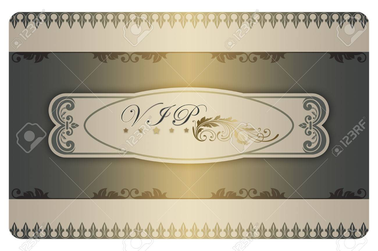 Template With Decorative Patterns And Frame For The Design Of ...
