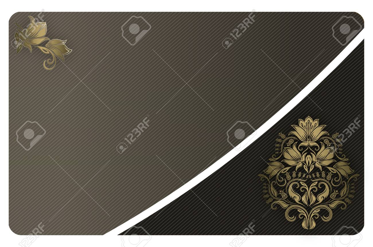Abstract background with gold floral patterns for the design stock abstract background with gold floral patterns for the design of business card stock photo colourmoves