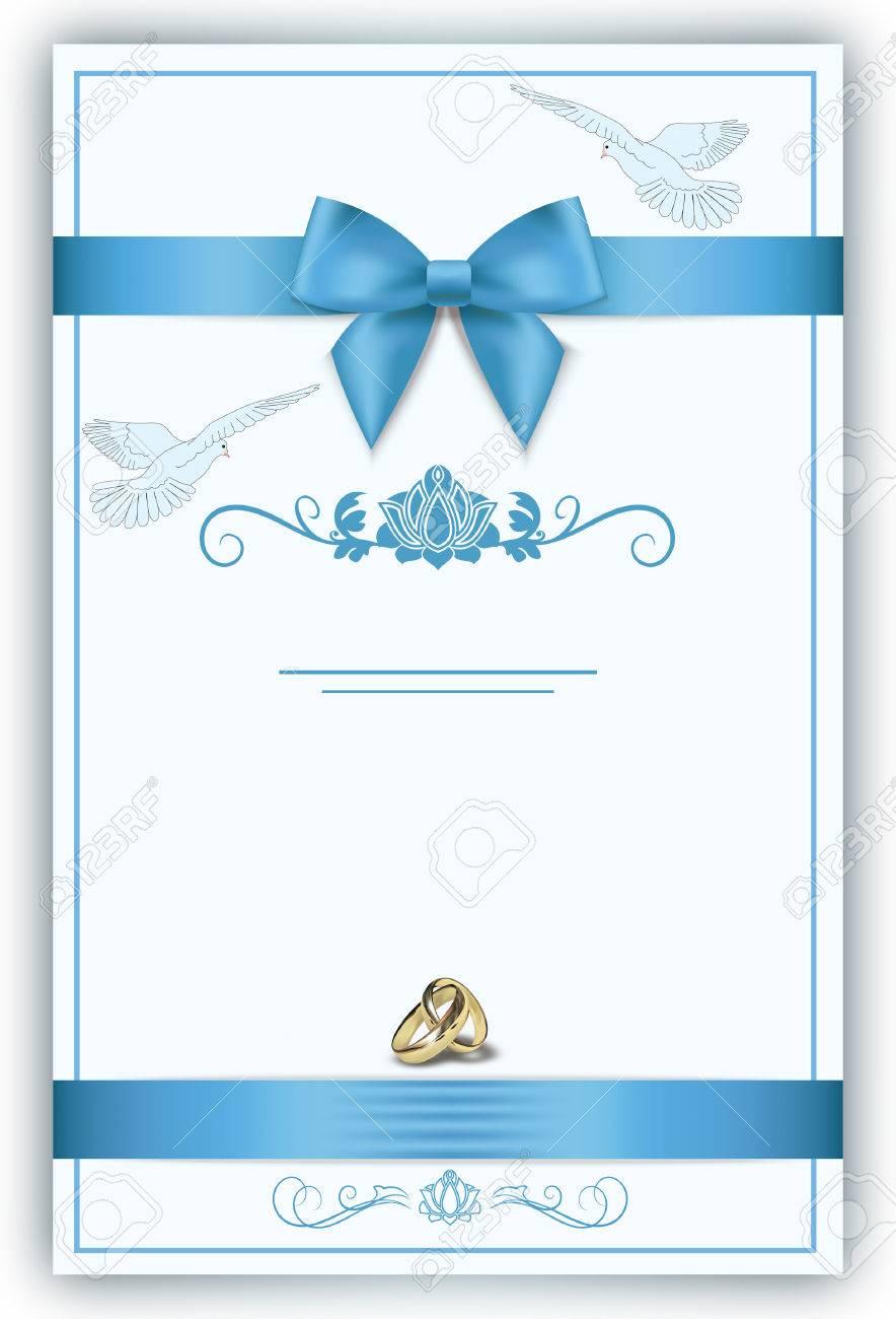 Fond Decoratif Pour La Conception De La Carte D Invitation De Mariage