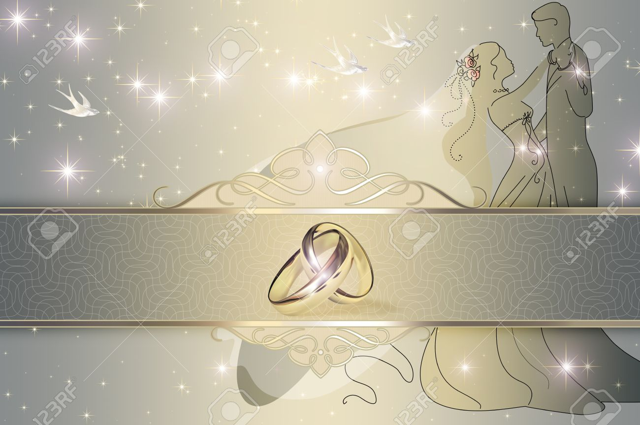 Wedding Decorative Background With Gold Wedding Rings Wedding