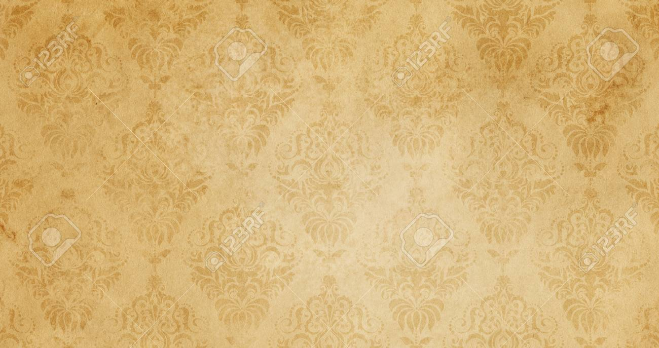 aged dirty paper background with floral patterns. vintage paper