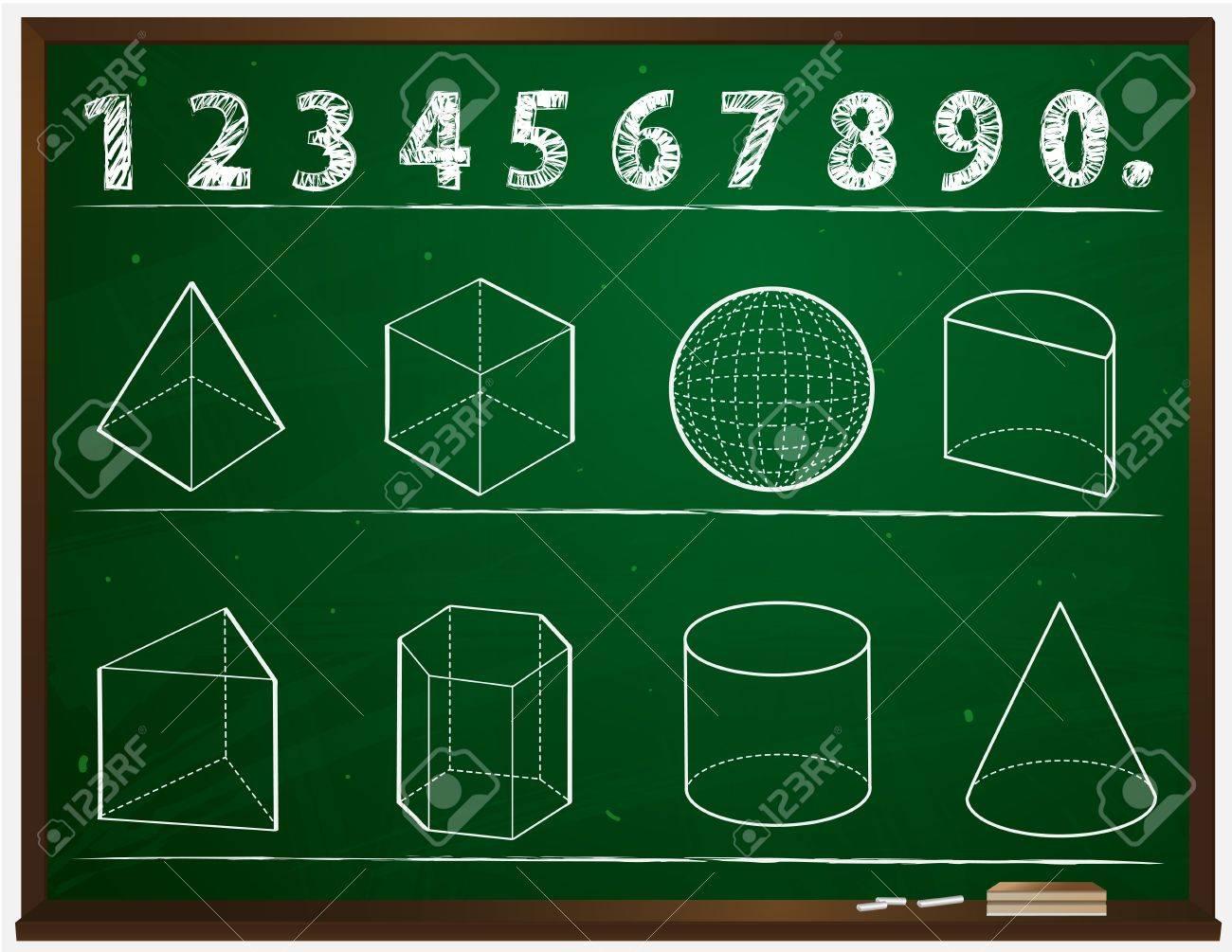 Geometry On The Blackboard Cartoon Royalty Free Cliparts, Vectors ...