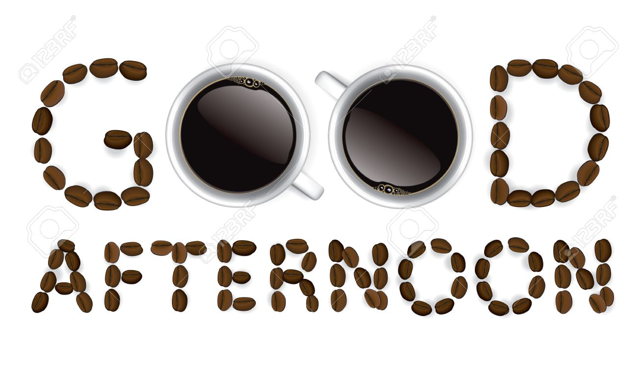 Good Afternoon And Coffee Cup Royalty Free Cliparts, Vectors, And ... #afternoonCoffee