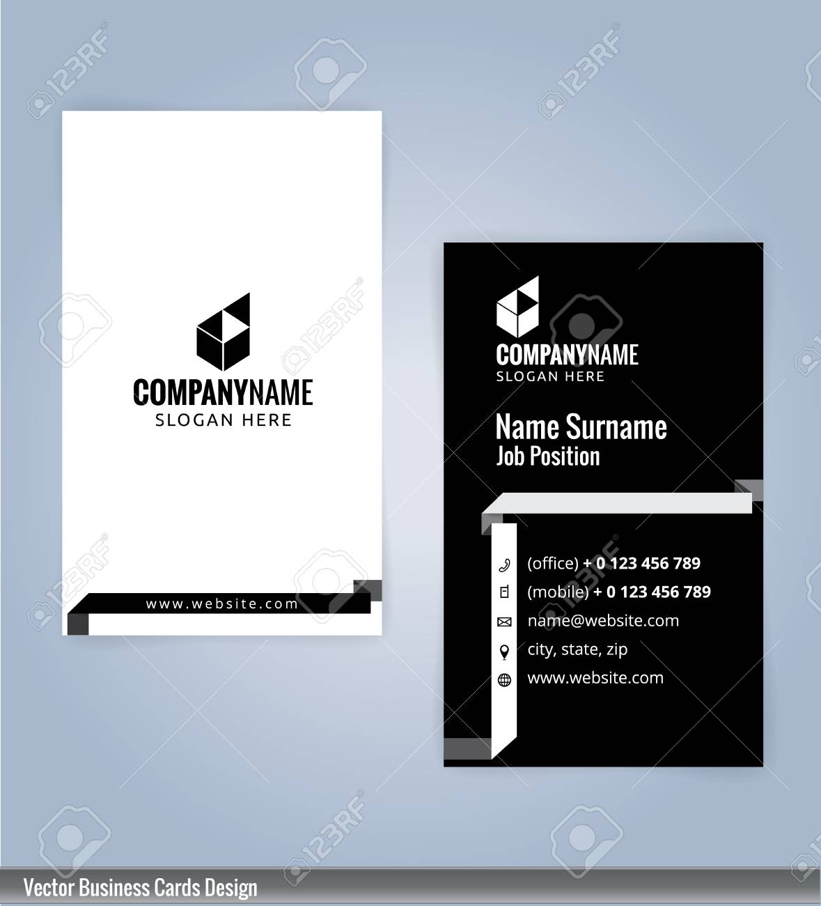 modern creative and clean business card design template black