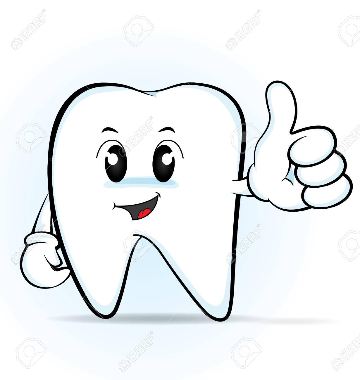 Cute Cartoon Tooth Giving The Thumbs Up Vector 10 Royalty Free Cliparts Vectors And Stock Illustration Image 74037126