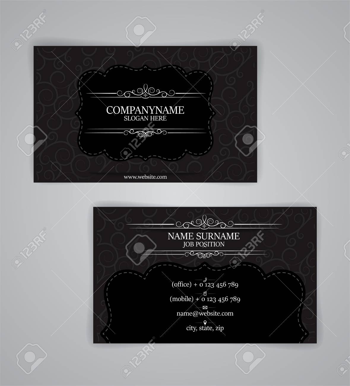 Vintage business cards template illustration vector 10 royalty free vector vintage business cards template illustration vector 10 flashek Images