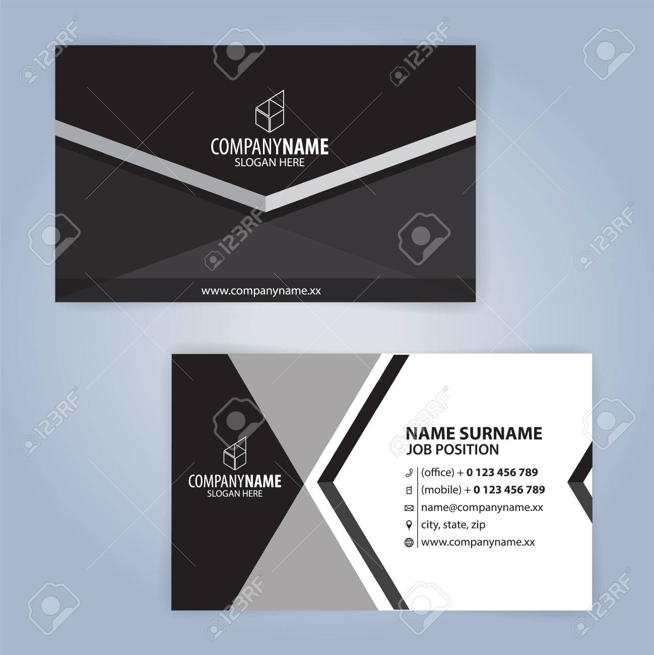 Black and white modern business card template illustration vector banco de imagens black and white modern business card template illustration vector 10 reheart Gallery