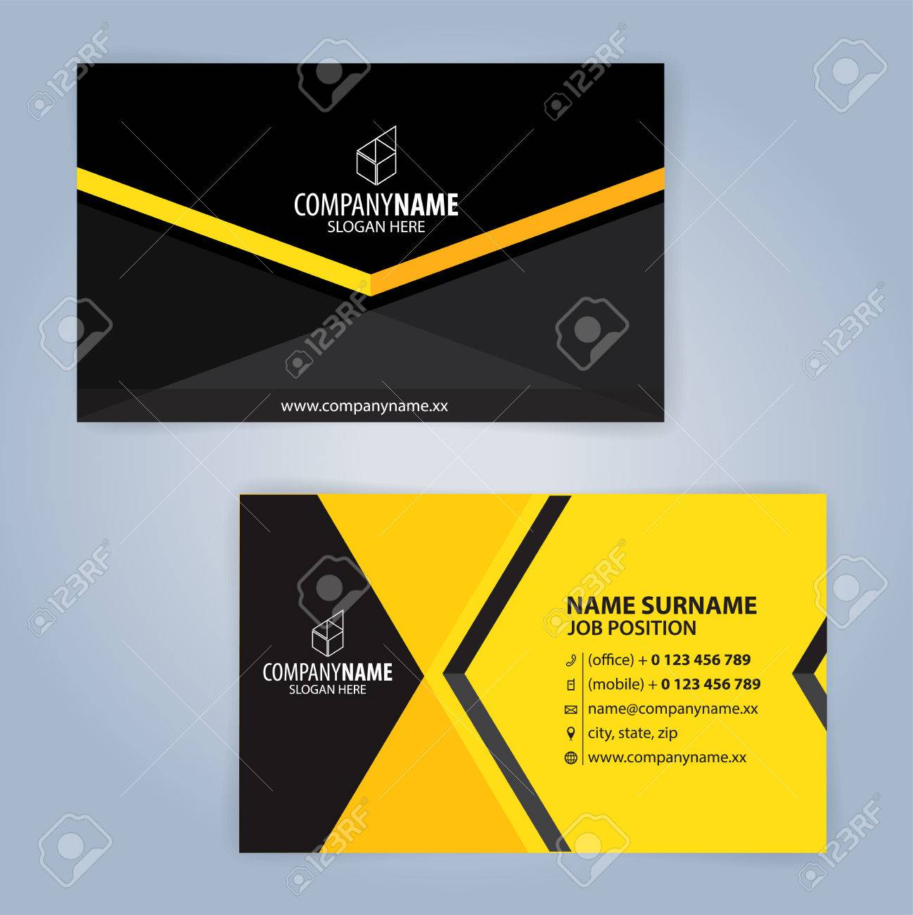 Business card template yellow and black illustration vector10 business card template yellow and black illustration vector10 imagens 81275852 reheart Gallery