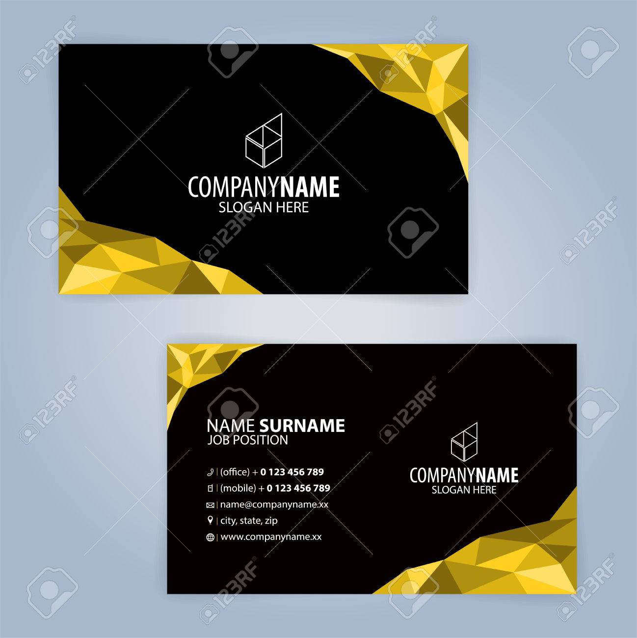 Yellow and black modern business card template illustration vector yellow and black modern business card template illustration vector 10 cheaphphosting Gallery