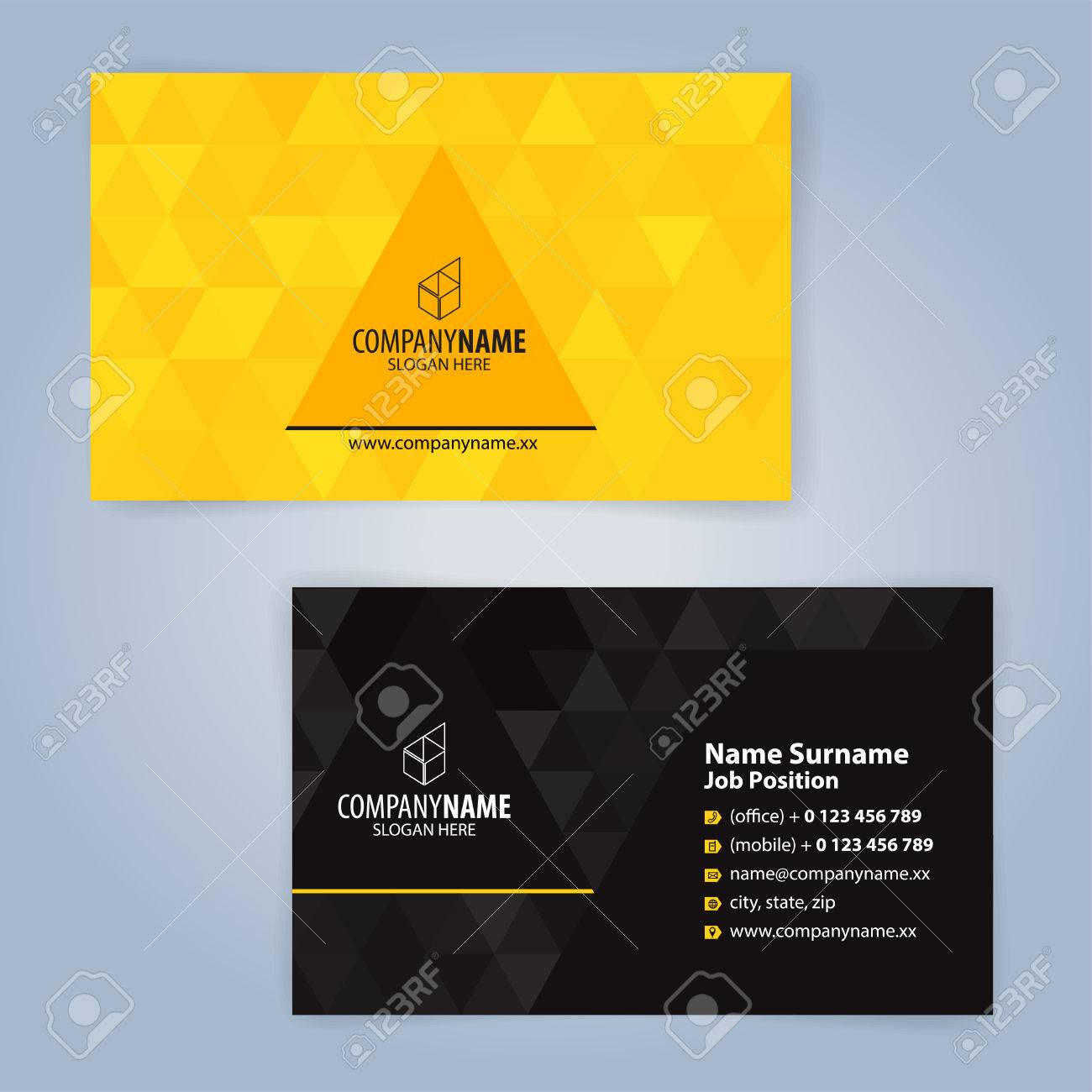 Yellow and black modern business card template illustration vector yellow and black modern business card template illustration vector 10 reheart Gallery